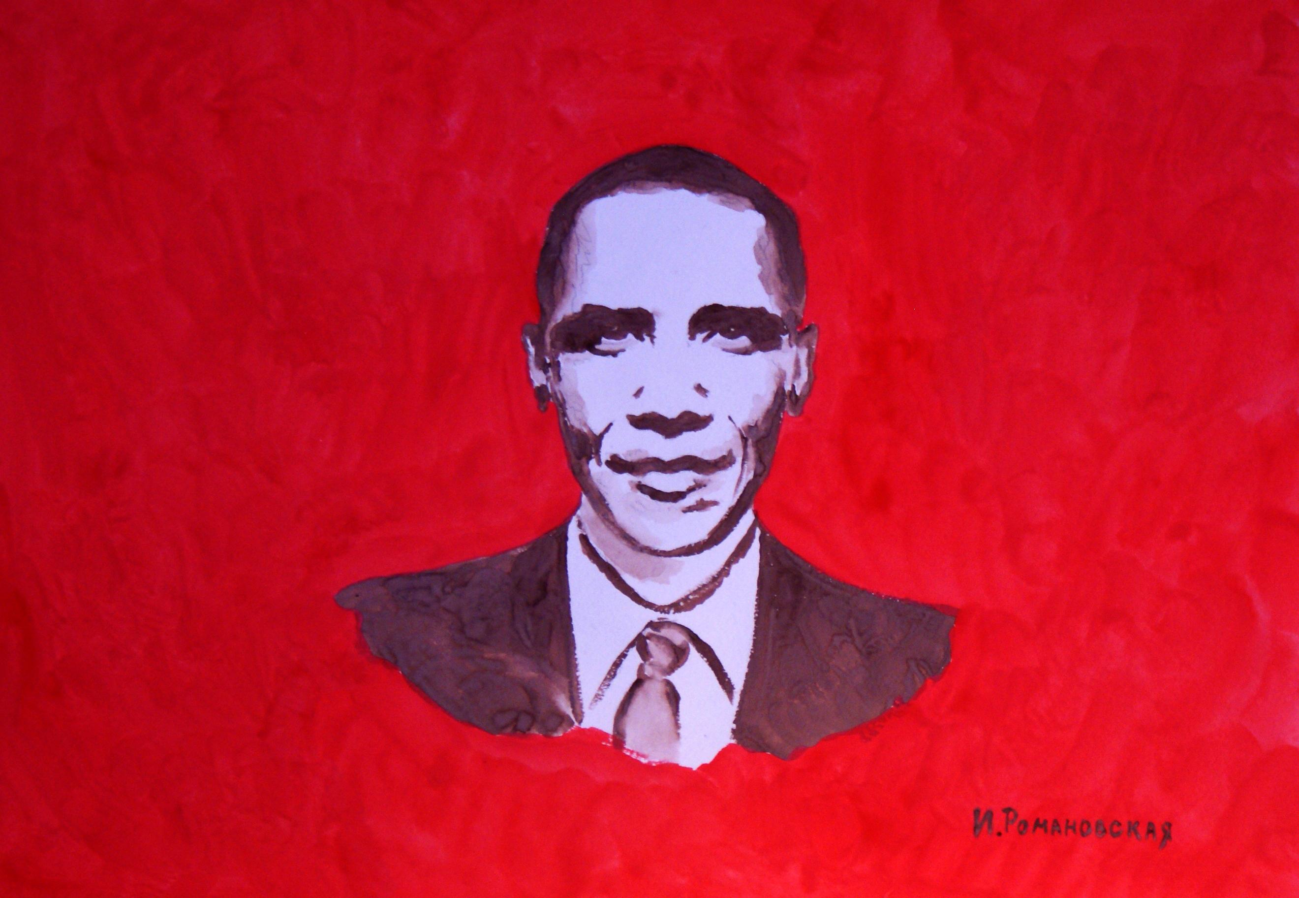 На Росії художниця намалювала Обаму груддю - фото 2