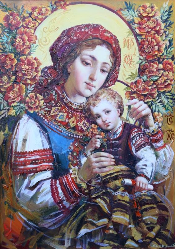 «Свята мати Покровонько…» – Заслужений художник України Олександр Охапкін презентує до свят виставку