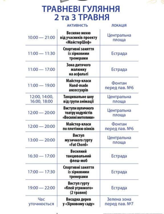 Травневі гуляння на ВДНГ у Києві: 10 зон відпочинку, сад бажань та майстер-класи   - фото 3