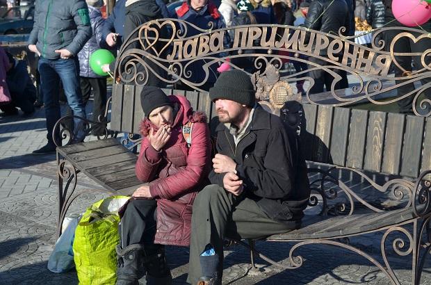 """Для запорізьких """"молодят на годинку"""" 14 лютого весільні вальси грав військовий оркестр місцевої частини 3033 - фото 14"""