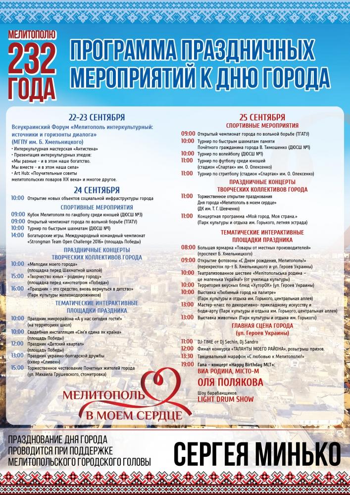 На День Мелітополь відсвяткує на широку ногу - фото 1