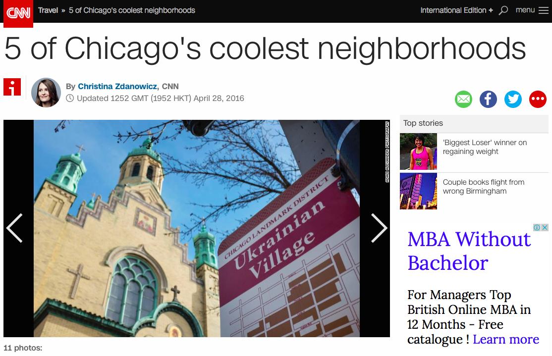Українська околиця стала одним з найкращих районів Чикаго, - CNN - фото 1