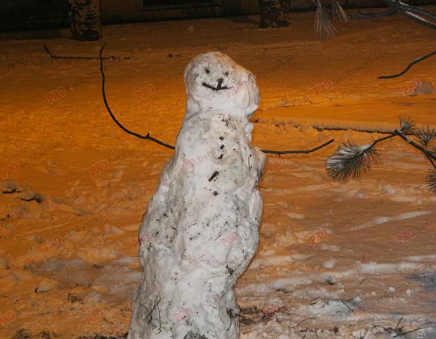 Мешканці Бердянська ліпили зі снігу та бруду різні скульптури  - фото 2
