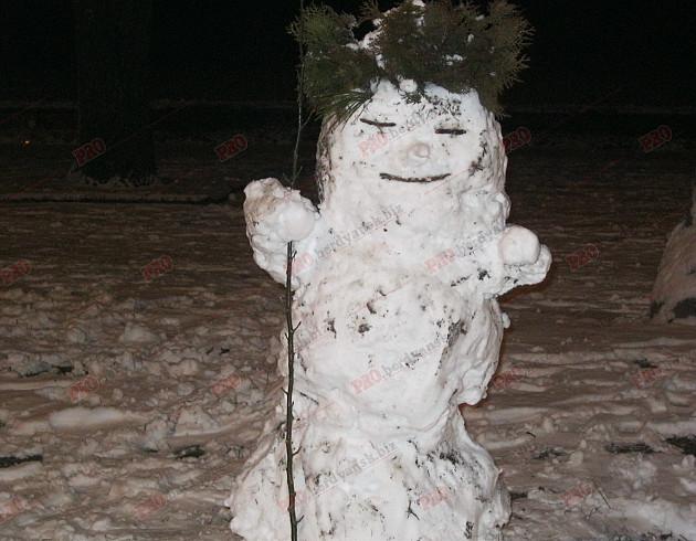 Мешканці Бердянська ліпили зі снігу та бруду різні скульптури  - фото 3
