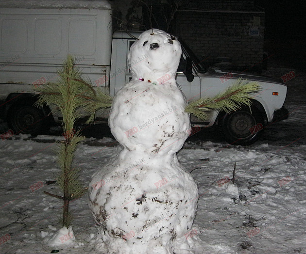 Мешканці Бердянська ліпили зі снігу та бруду різні скульптури  - фото 8