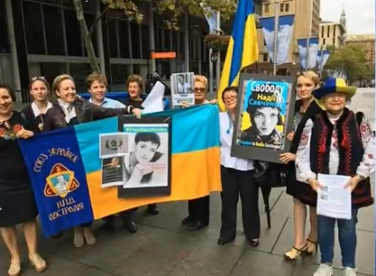 Як в Австралії протестували проти судилища над Савченко  - фото 2