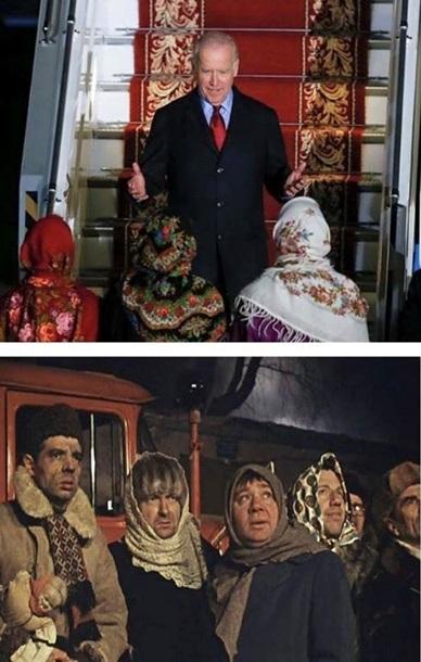 Соцмережі відреагували фотожабами на візит Байдена в Україну - фото 4