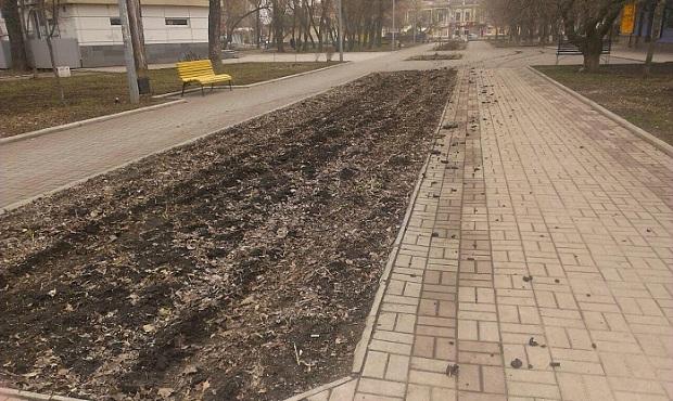 """Невідомі """"гонщики"""" спотворили центральний парк Бердянська  - фото 4"""