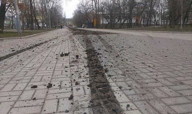 """Невідомі """"гонщики"""" спотворили центральний парк Бердянська  - фото 1"""