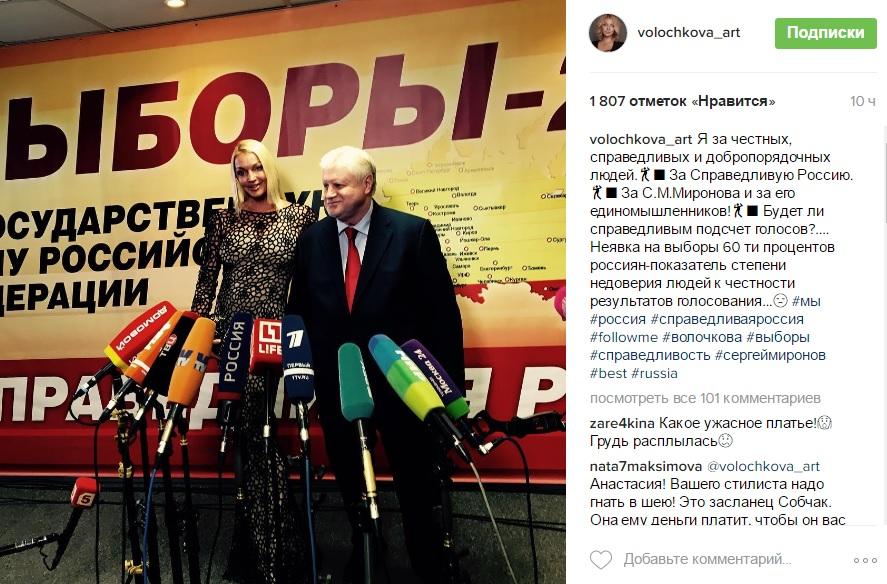 Волочкова зрадила Путіну та заявила про нечесність голосування на Росії - фото 1