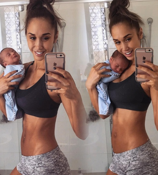24-річна фітнес-модель похизувалася пласким животом одразу після народження сина - фото 2