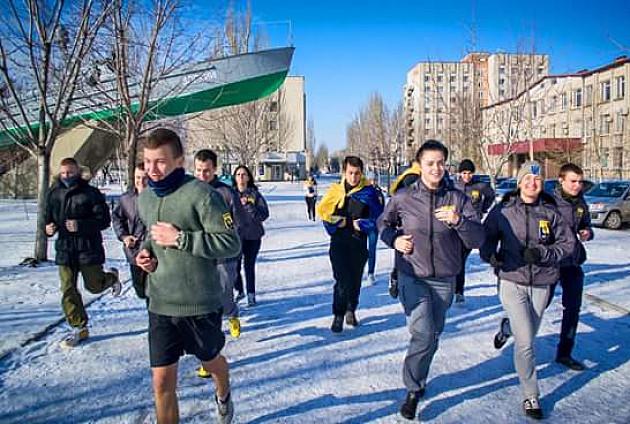 """Громадянський корпус """"Азов"""" провів у Бердянську святковий забіг - фото 1"""