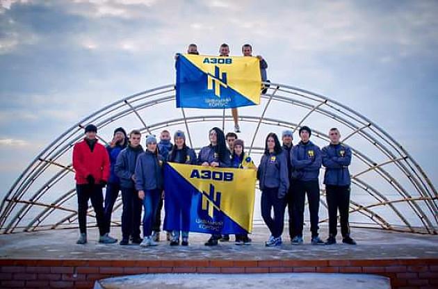"""Громадянський корпус """"Азов"""" провів у Бердянську святковий забіг - фото 3"""