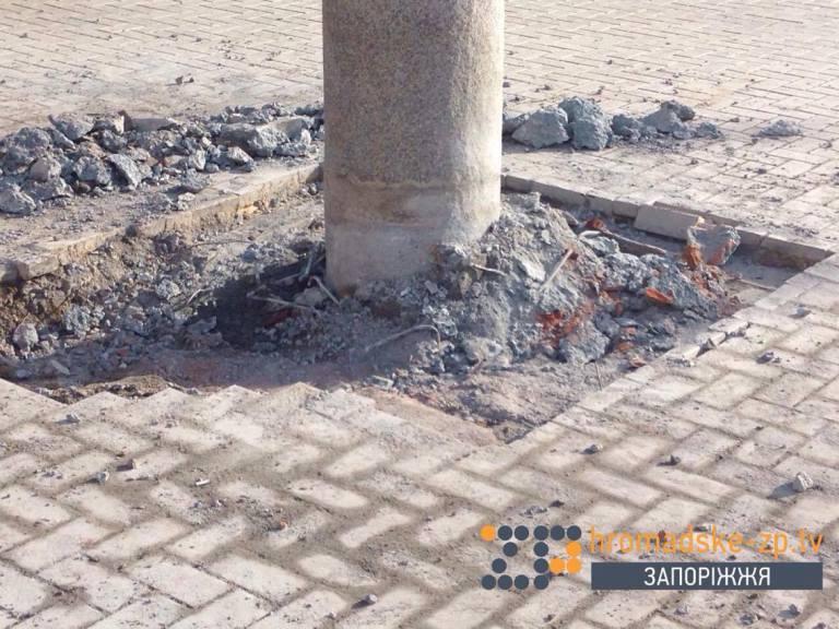 У Запорізькій області демонтували пам'ятник Шевченку (ФОТО) - фото 2