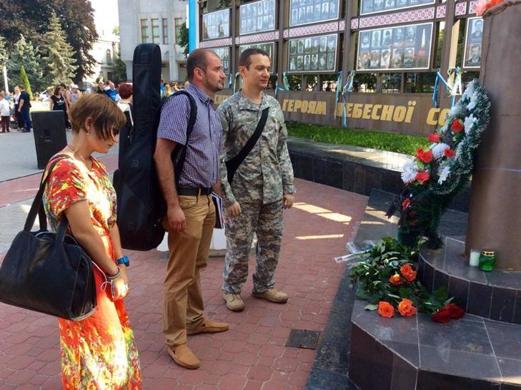 Народні Герої України вклонилися полеглим бійцям з Хмельниччини - фото 17