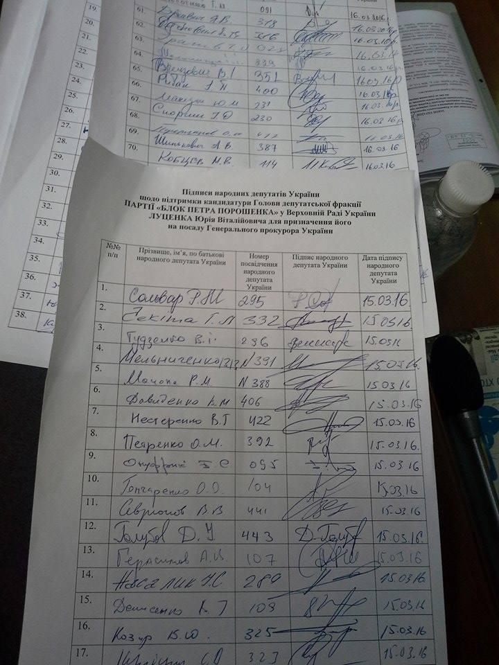 Луценка в генпрокурори: В Раді зібрали 72 підписи за його призначення - фото 1