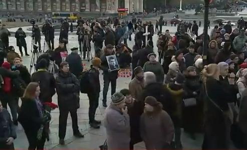 На столичному Майдані почалась акція пам`яті Нємцова - фото 1