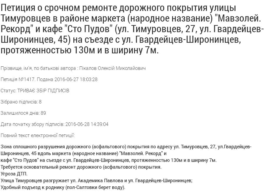 """Харків'яни вимагають від Кернеса негайно відремонтувати дорогу до """"Мавзолею"""" - фото 1"""