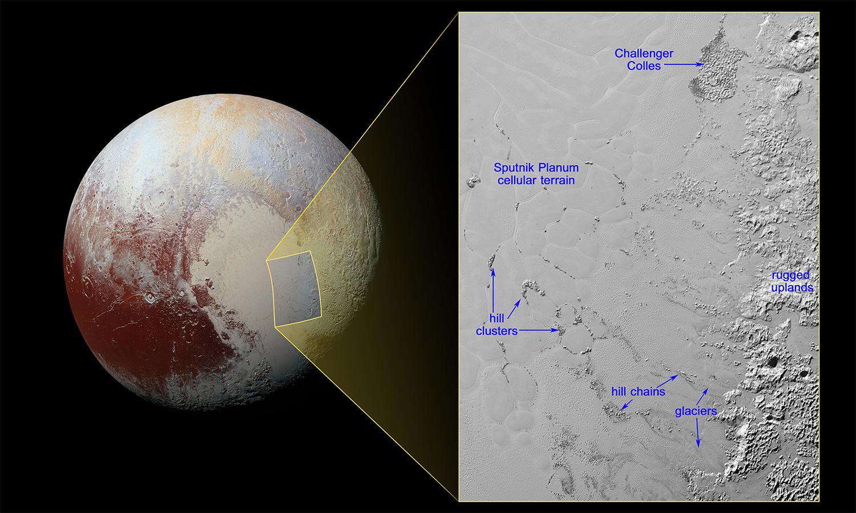 НаПлутоне обнаружены загадочные плавающие холмы