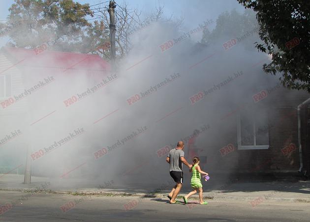 У Бердянську пожежу в житловому будинку гасили усією вулицею - фото 1