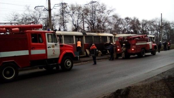 В Запоріжжя знову горів трамвай - фото 1