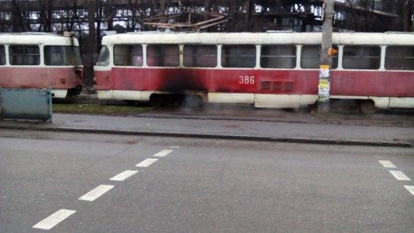 В Запоріжжя знову горів трамвай - фото 2