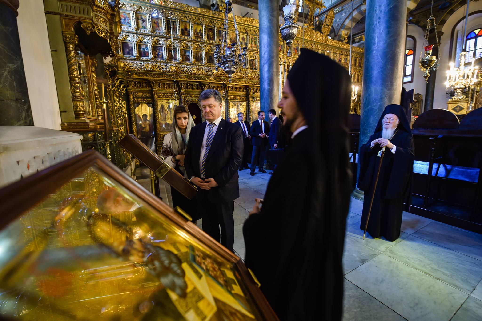 Порошенко і патріарх Варфоломій обговорили створення єдиної української православної церкви - фото 3