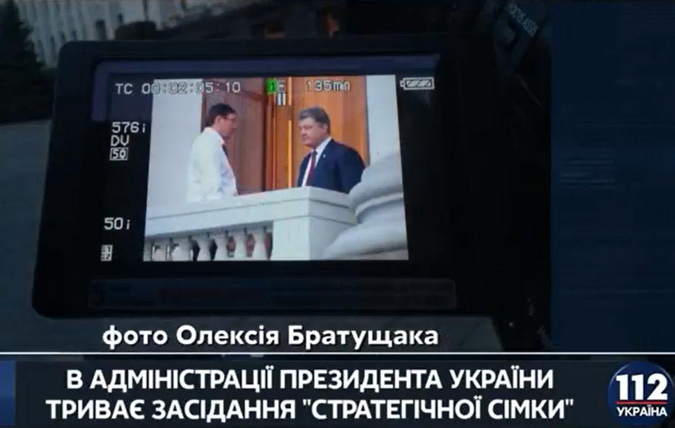 Як Порошенко і Луценко радилися на балконі - фото 1