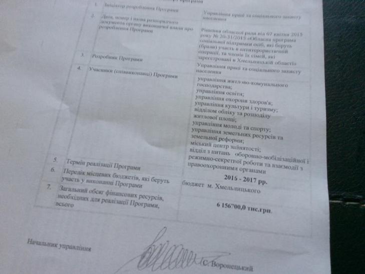 Хмельницьких АТОшників влада підтримає на шість мільйонів гривень - фото 1