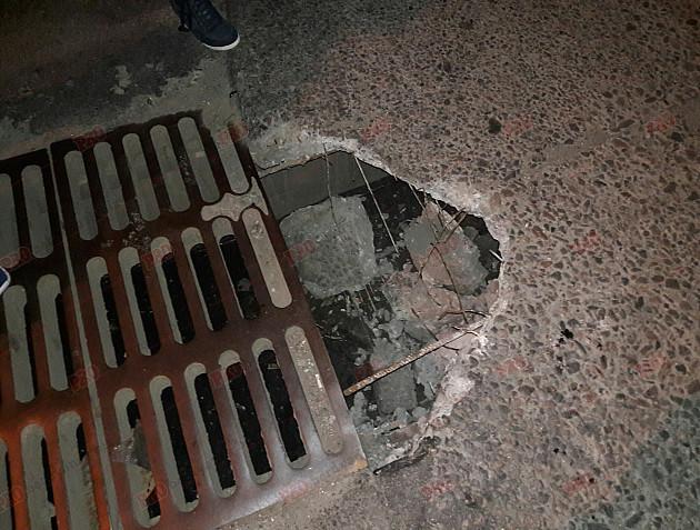 На Запоріжжі машина провалилася під асфальт  - фото 1