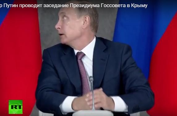 Як Путін корчив пики на нараді в Криму: жував губи на позіхав  - фото 5
