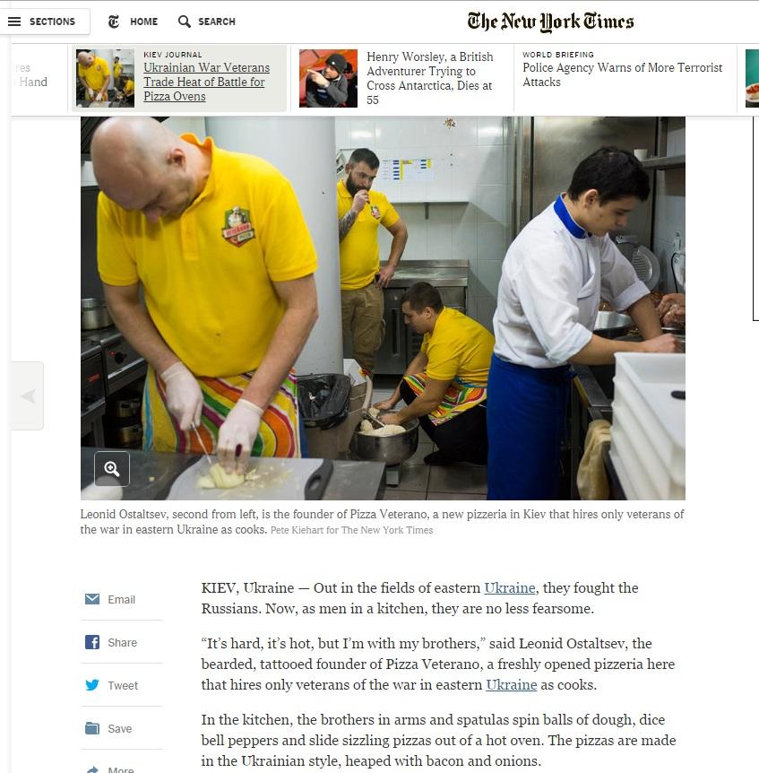 Бійці АТО, що відкрили піцерію в Києві, потрапили в The New York Times - фото 1
