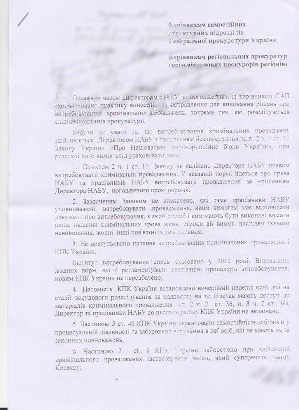 Шокін офіційно заборонив ГПУ передавати справи в НАБУ, - активіст - фото 1