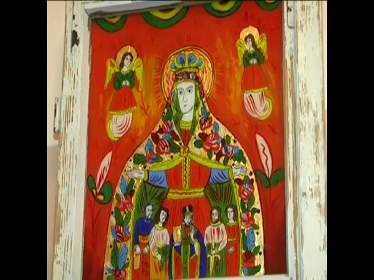 Ікони написані на склі в народному стилі експонують у Меджибожі - фото 5
