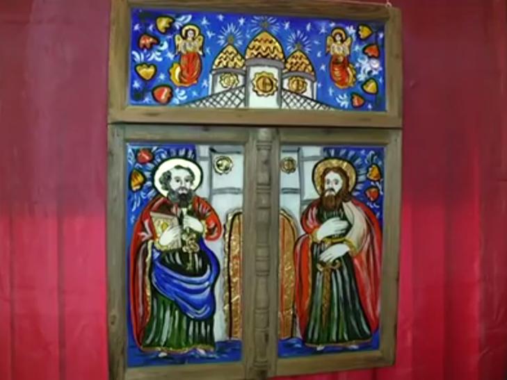 Ікони написані на склі в народному стилі експонують у Меджибожі - фото 6