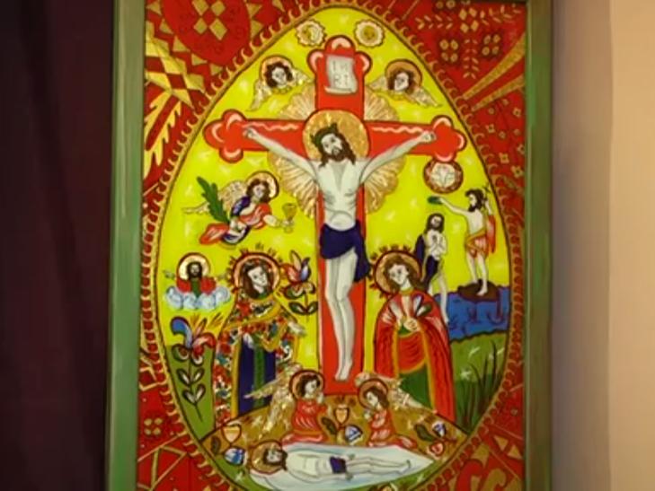 Ікони написані на склі в народному стилі експонують у Меджибожі - фото 1
