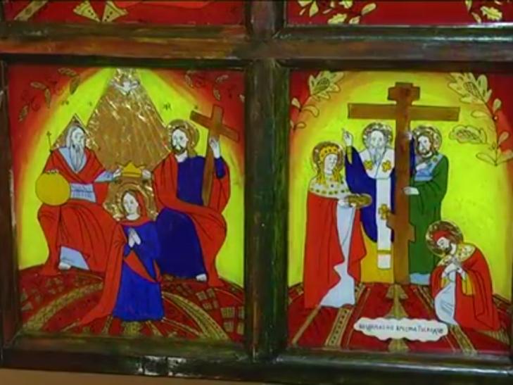 Ікони написані на склі в народному стилі експонують у Меджибожі - фото 4