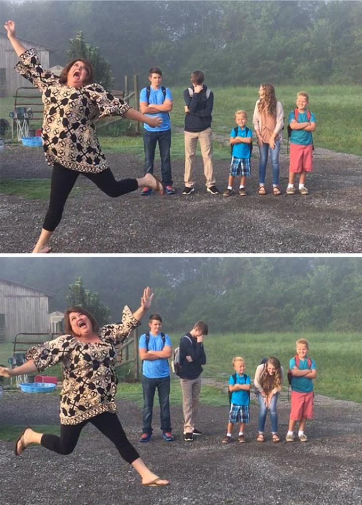 15 нестримно щасливих батьків, які, нарешті, відправляють дітей до школи - фото 1