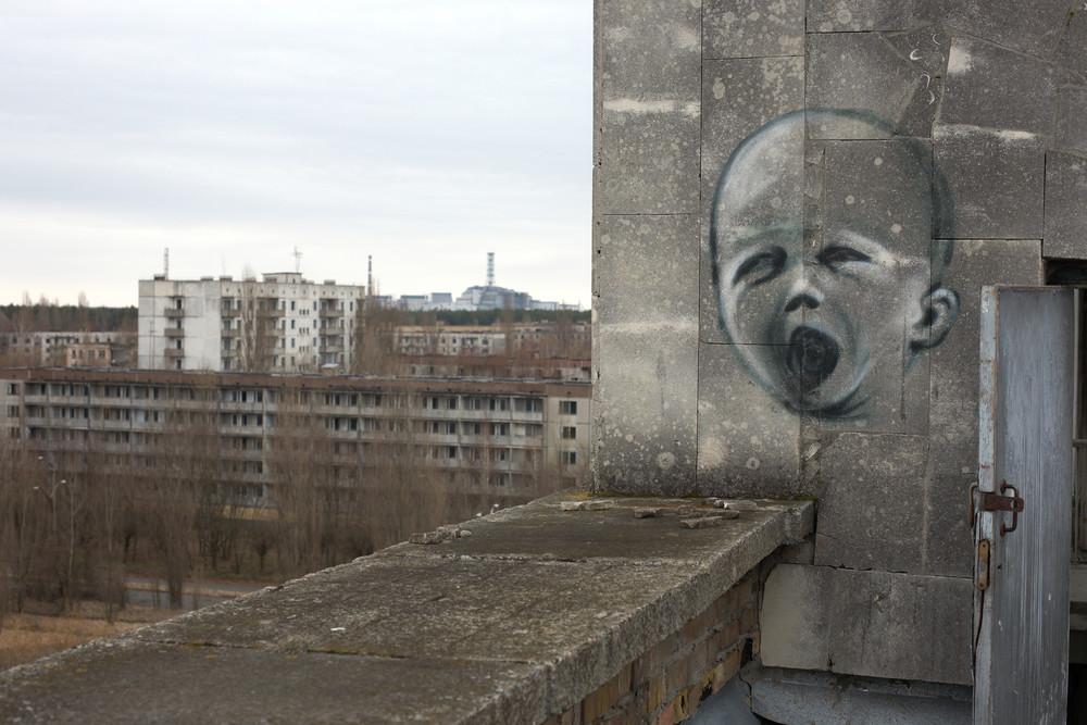 У Чорнобилі з'явився страхітливий мурал  - фото 1