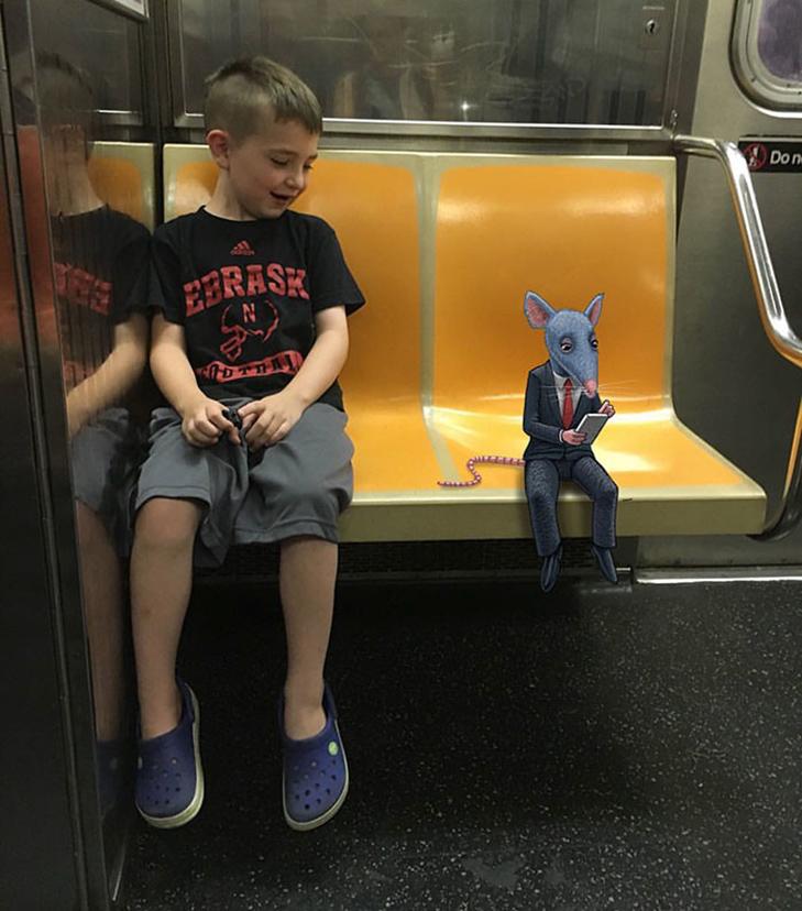 Як художник з Нью-Йорку нацьковує монстрів на пасажирів метро - фото 30