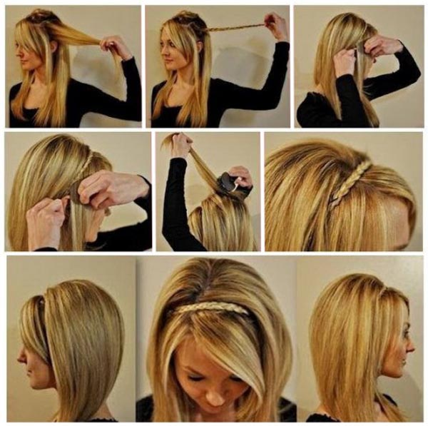 Как сделать красивый ободок для волос своими руками фото