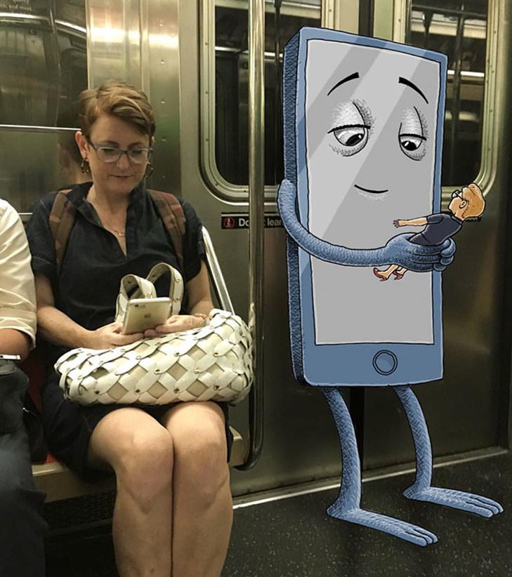 Як художник з Нью-Йорку нацьковує монстрів на пасажирів метро - фото 1