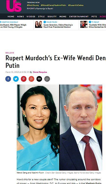 У Путіна роман з колишньою дружиною Мердока - фото 1