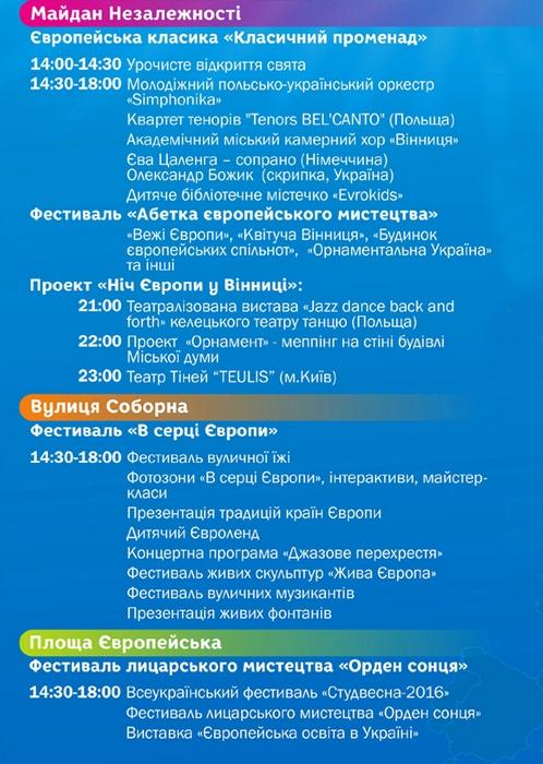 Всі заходи та атракції до Дня Європи у Вінниці - фото 2