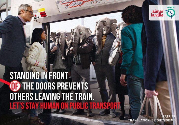"""Як парижан закликатимуть бути """"хомо сапієнс"""" в громадському транспорті - фото 9"""