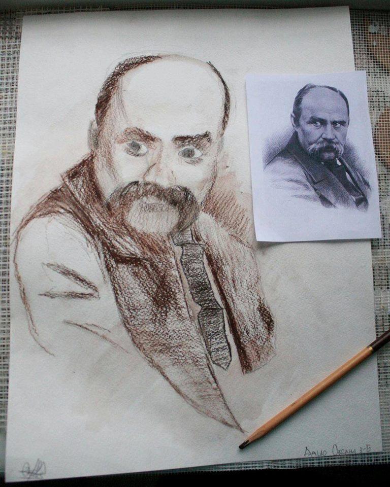 Шевченко очима дітей: як малеча кумедно малює Кобзаря  - фото 5