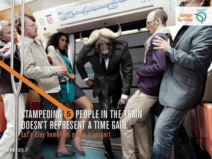 """Як парижан закликатимуть бути """"хомо сапієнс"""" в громадському транспорті - фото 6"""