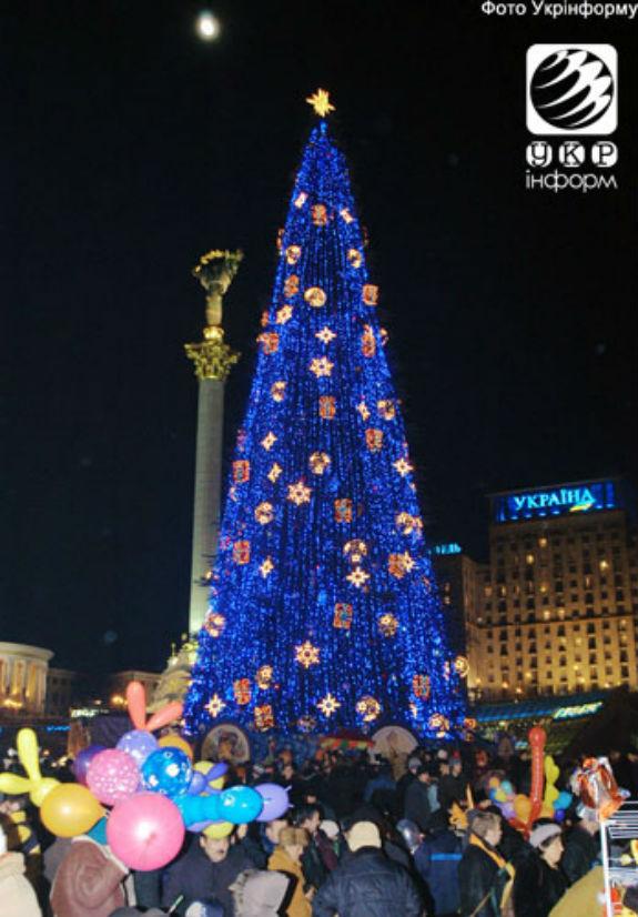 Як змінювалася головна новорічна ялинка України протягом півстоліття - фото 9
