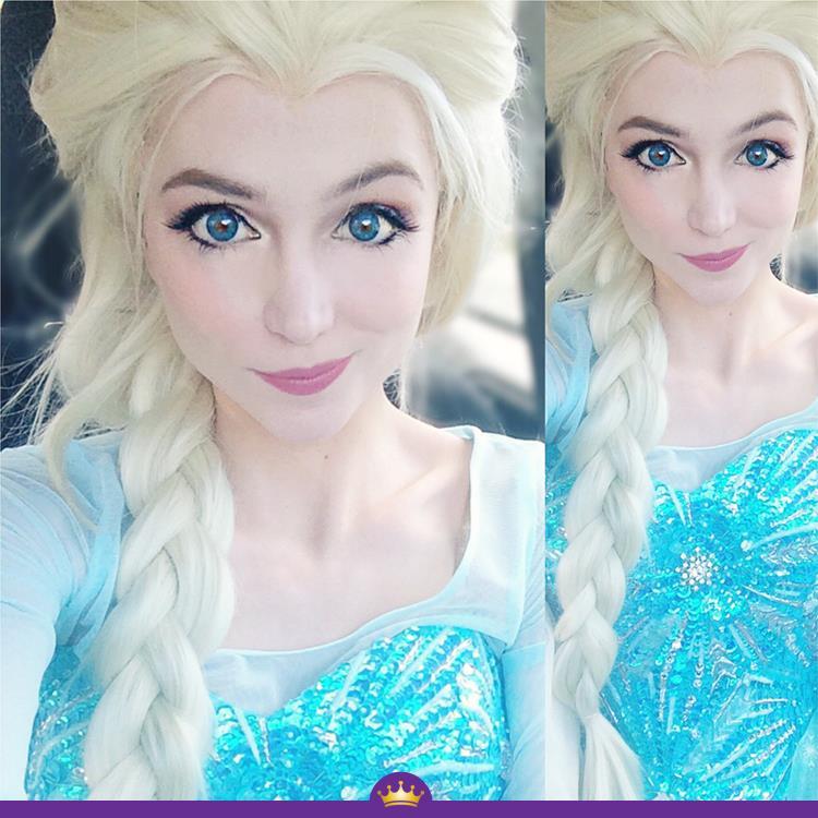 Як дівчина з величезними очима перетворюється на принцес Діснея - фото 5