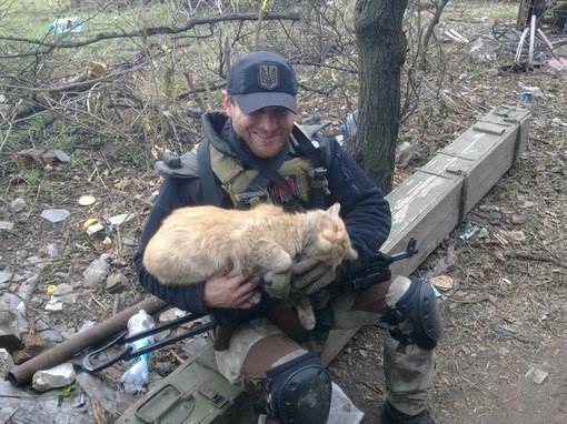 За що українські військові поставлять пам'ятники котам - фото 1